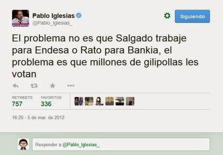 Carta abierta a Pablo Iglesias, líder de Podemos