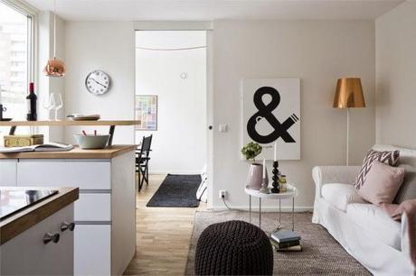 Inspiraci n deco un piso n rdico peque o coqueto y con - Piso pequeno estilo nordico ...