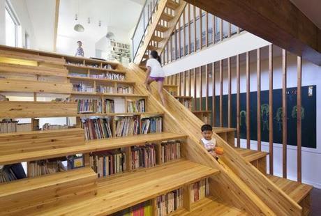 Escalera librer a tobog n o sala de cine un original for Escalera libreria