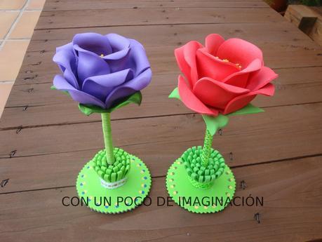 """rosas de goma eva """" - Paperblog"""