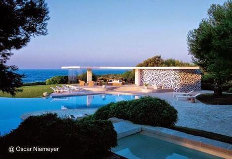 Arquitectura orgánica de Oscar Niemeyer casa en la Costa Azul