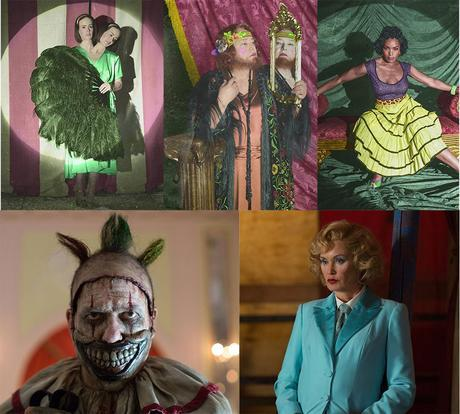 american horror story freack show collage