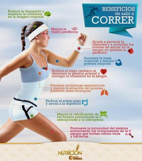 Beneficios de salir a correr #Infografía #Salud #Ejercicio