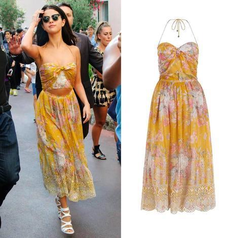 Selena Gomez, con vestido de la colección Resort 2015 de Zimmermann.