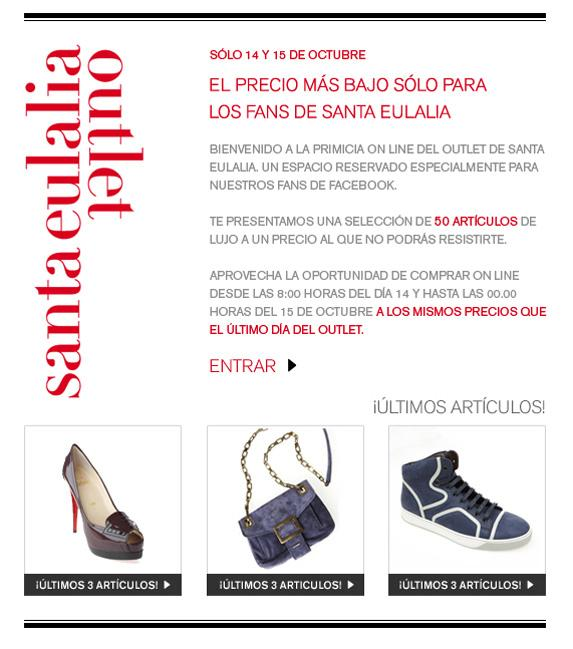 Outlet Santa Eulalia en Facebook