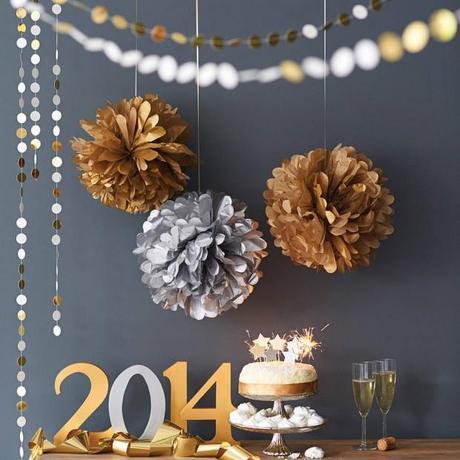 Las fiestas navideñas y la decoración en oro y plata