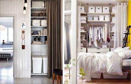 Armarios lowcost con cortinas paperblog - Como organizar un armario ...