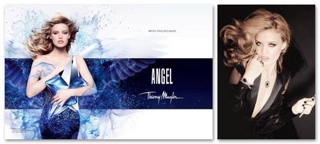 Georgia May Jagger, imagen del perfume Angel, de Thierry Muller (igual que lo fuera su madre en el pasado) y de la campaña de Thomas Sabo.