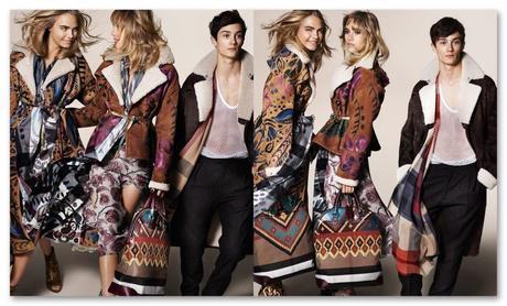 La campaña de otoño invierno de Burberry reúne a un número de las modelos british que copan todas las firmas, desfiles y portadas.