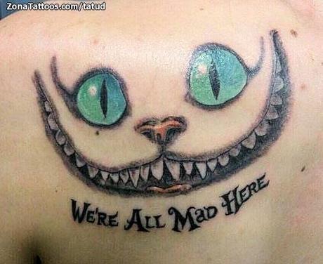 gato de alicia en el pais las maravillas tattoo. Black Bedroom Furniture Sets. Home Design Ideas
