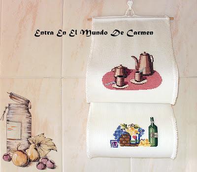 Portarrollos de cocina bordado a punto de cruz paperblog for Portarrollos de cocina