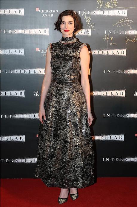Anne Hathaway, en el estreno en Shangai de
