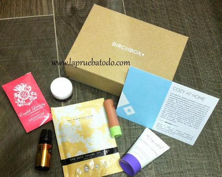 Birchbox Noviembre. Cozy at home