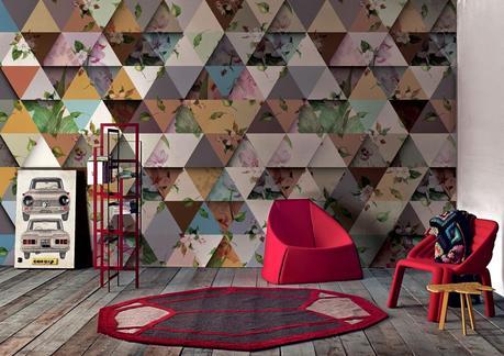 London art dise o en papel pintado para paredes paperblog - Papel decorado para paredes ...