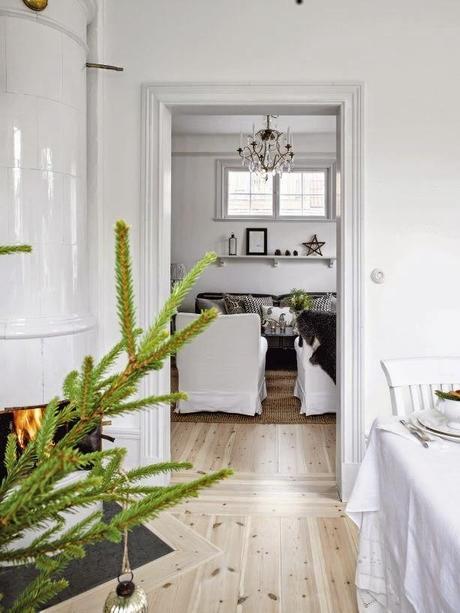 Decoracion navide a natural en una casa sueca paperblog - Decoracion navidena natural ...