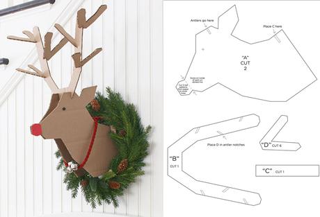 Diy renos para navidad paperblog for Trineo madera decoracion