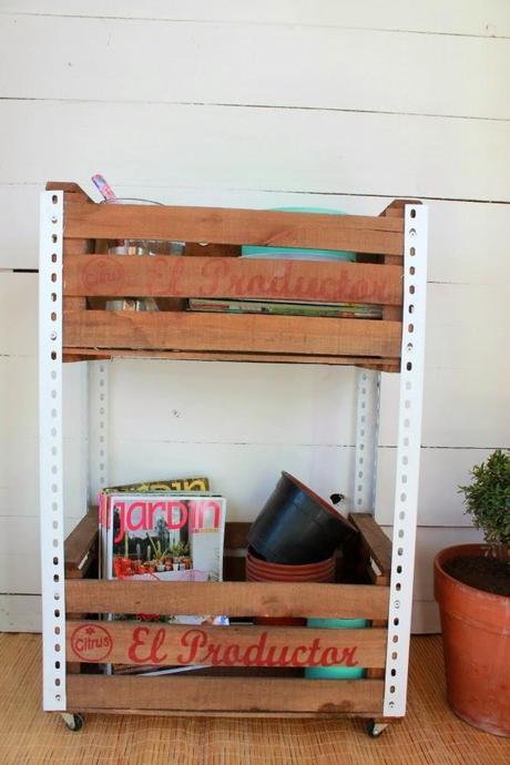 D i y ideas para decorar con cajones de verduras paperblog - Cajones de fruta de madera ...