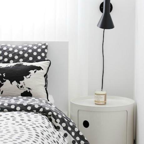 Deco s bado habitaciones en blanco y negro paperblog for Corredor deco blanco y negro