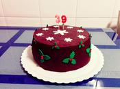 Tarta navideña para cumpleaños