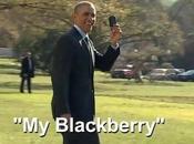 Barack Obama adicto viejo Blackberry