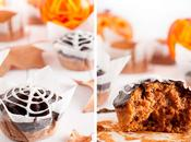 Cupcakes calabaza glaseado chocolate