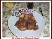 Filetes salsa vino setas ñoquis queso