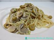 Espaguetis picantes champiñones