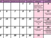 Calendario cursos Mayo