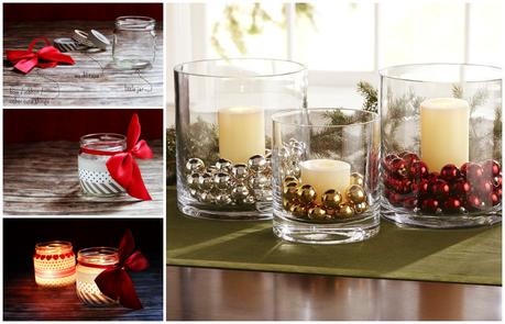 Deco Especial Navidad Velas Y Centros De Mesa Paperblog - Centros-de-mesa-navideos-con-velas