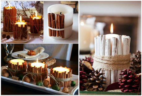 deco especial navidad velas y centros de mesa