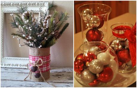 Deco especial navidad velas y centros de mesa paperblog - Adornos de mesa navidenos ...