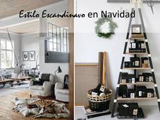 Decoración para navidad estilo escandinavo calendario adviento