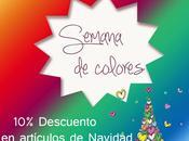 Decoracion luminosa para Navidad (Semana colores)