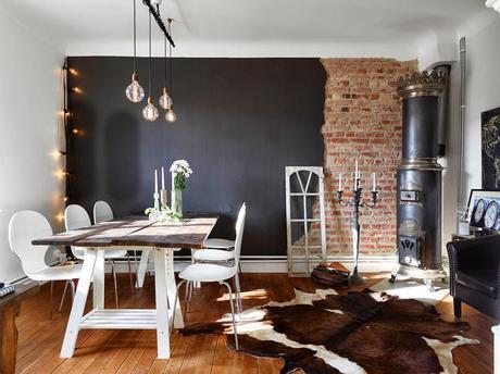 Inspiración Deco: Estilo nórdico en madera y negro - Paperblog