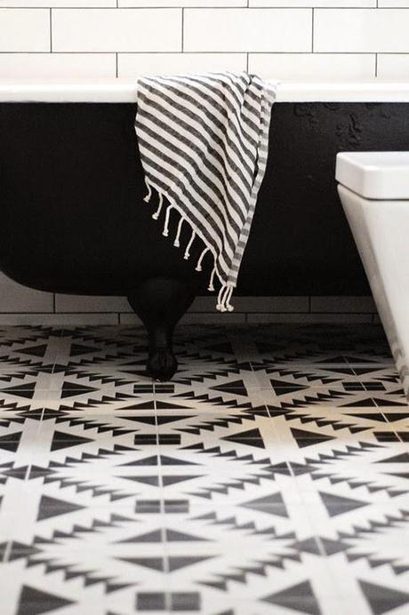 Baño Totalmente Blanco:ideas-deco-banos-blanco-y-negro-decoracion-banos-black-and-white