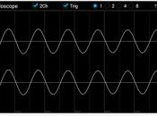 Convierta smartphone tableta osciloscpio