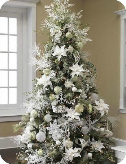 fuente decoracin blanca ideas para decorar el rbol de navidad