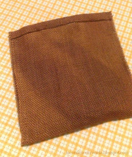 Saco de arpillera navide o fiesta diogenera paperblog - Saco de arpillera ...