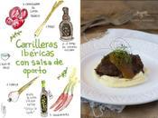 Carilleras ibéricas salsa oporto parmentier