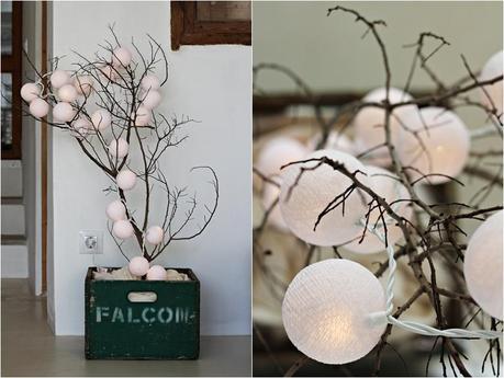 C mo hacer un rbol de navidad con ramas paperblog - Ramas de arbol para decoracion ...