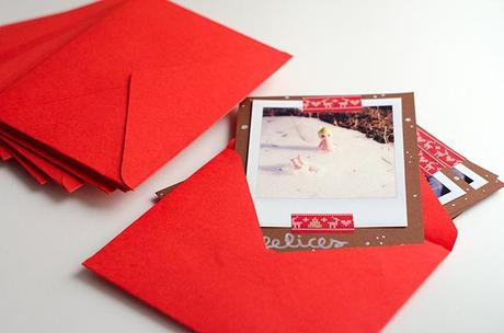 C mo hacer unas tarjetas navide as con polaroids paperblog - Como hacer tarjetas navidenas a mano ...