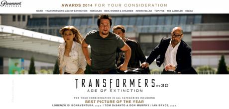 Paramount pide el Oscar para 'Transformers 4'