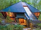 Cabaña orgánica forma diamante Estados Unidos.
