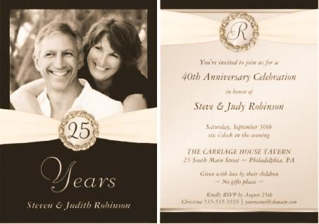 Invitaciones para bodas de plata ideas fabulosas paperblog - Ideas bodas de plata ...