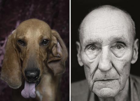 William S Burroughs y su imitador canino