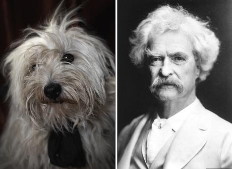 Mark Twain y su doble perruno