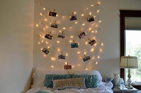 6 ideas para decorar con luces de navidad tu dormitorio