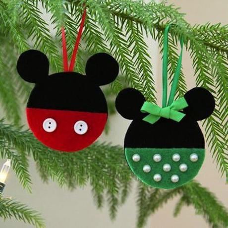 Adornos para el rbol de navidad de mickey y minnie para - Cosas navidenas para hacer en casa faciles ...