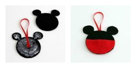 adornos para el rbol de navidad de mickey y minnie para hacer con nios