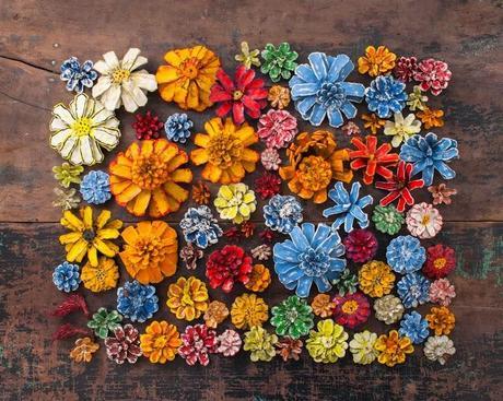 Miércoles de inspiración ♥ piñas pintadas   paperblog